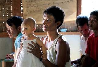 GBV awareness-raising sessions for boys and men in the Maina AG IDP camp, Kachin, Myanmar.