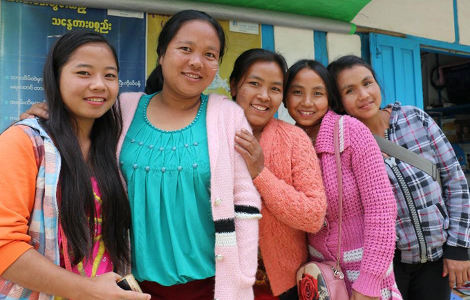 Friends from the remote village Ramthlo in Myanmar's Chin State borrowed a pickup van to go to town to visit the family planning clinic and to have a girly day out.