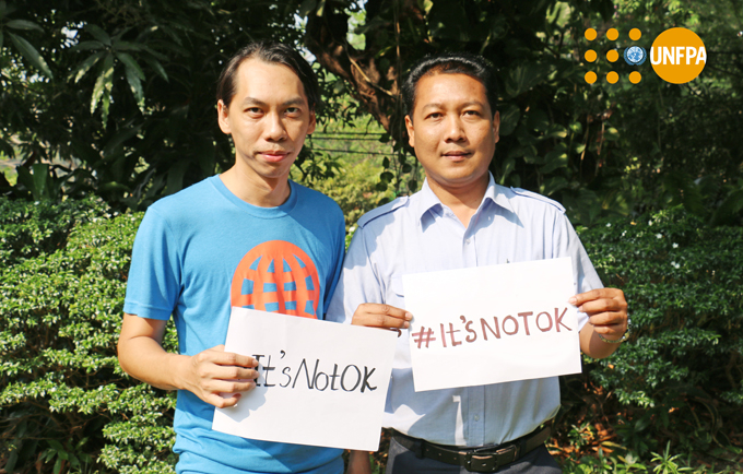 Violence against women: #ItsNotOK – Ye Min, UNFPA #Myanmar web developer and Than Zaw Aung, driver, stand up for women's human rights on International Women's Day #IWD