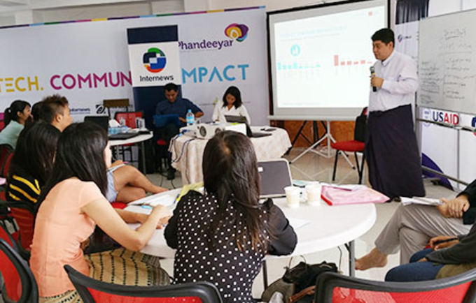 UNFPA Myanmar | Data Journalism is on its way for Myanmar's