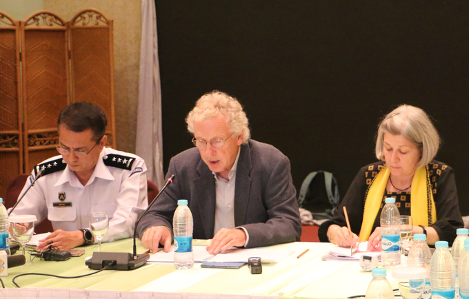 Dr Werner Haug gives a press statement about the 7th in-country ITAB meeting in Nay Pyi Taw.