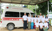 YIC members manage the ambulance service in Sarmalauk.