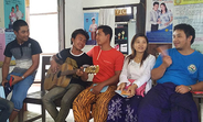 Youth in Hsipaw, Shan State, sing at the YIC.