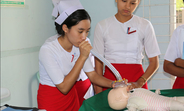 Midwives at the Mandalay Midwifery School receive training in basic emergency, obstetric and newborn care.