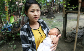 Khin Phyo, 23, and her baby survived thanks to the UNFPA-supported health volunteer's decision to take her to hospital.