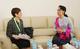 Yoriko Yasukawa, director of UNFPA's Asia-Pacific Regional Office, and Aung San Suu Kyi. (Photo: NLD)